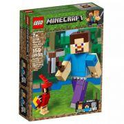 Lego 21148 Minecraft  - Bigfig Steve Com Papagaio  - 159 peças
