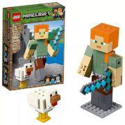 Lego 21149 Minecraft  - Bigfig - Alex Gigante E Galinha  - 160 peças