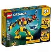 Lego 31090 Creator - 3 Em 1 - Robôs Subaquáticos – 207 peças