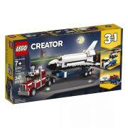 Lego 31091 Creator - 3 Em 1 – Caminhão Transportador e Ônibus Espacial – 341 peças