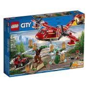 Lego 60217 City – Avião e Buggy de Combate Ao Fogo  -363 peças