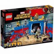 Lego 76088 Thor Ragnarok - Thor vs Hulk Arena de Batalha 492 peças
