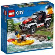 Lego City 60240 Aventura Jipe com Caiaque- 84 peças