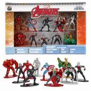 Nano Metal Marvel Avengers Vingadores kit Com 10 DTC