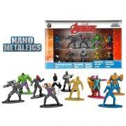 Nano Metal Marvel Avengers Vingadores Pack Com 10 DTC