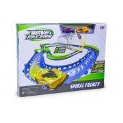 Pista Wave Racers + 2 carros – Spiral Frenzy – Sensor de Aceno – DTC