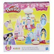 Play Doh Castelo Reino Brilhante Princesas Bela e Cinderela - Hasbro