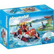Playmobil Action Dino Hovercraft Flutua e Com Motor Subaquatico - Sunny