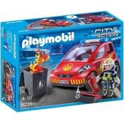 Playmobil City Action Bombeiro Com Carro