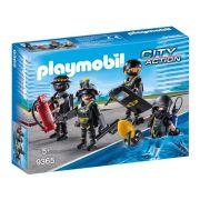 Playmobil City Action Equipe Unidade Tatica Com 4 Bonecos - Sunny