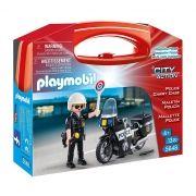Playmobil City Action Maleta Policial C/ Moto  13 peças