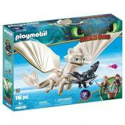 Playmobil - Como Treinar Seu Dragão 3 - Furia Da Luz, Dragão Bebê e Crianças – 16 peças
