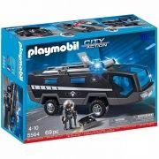 Playmobil Veiculo de Comando Unidade Tatica da Policia Com luz e Som - Sunny