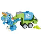 Playskool Chomp Squad Dino Trailer Raptor C/ Som e Luz - Hasbro