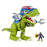Playskool Chomp Squad Dinossauro T-Rex C/ som e luz Hasbro