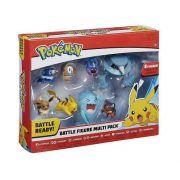 Pokemon Figura Batalha Conjunto com 8 Bonecos - DTC