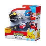 Pokémon kit – Cinto Clip Go + 2 Pokebola + 1 Figura - DTC