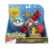 Pokémon kit – Cinto Clip + Pokebola + Ultraball + Pikachu Tomy