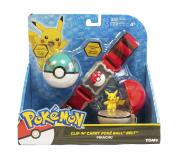 Pokémon kit – Cinto Clip + Pokebola + Ultraball + Pikachu Tomy