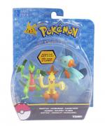 Pokémon Pack 3 bonecos  Grovyle - Combusken - Marshtomp - Tomy