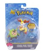 Pokémon Pack 3 bonecos Quilladin - Braixen -Frogadier Tomy