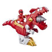 Power Rangers Sabans Playskool –Ranger Vermelho e T-Rex Zord - Hasbro