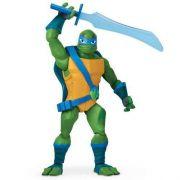 Tartarugas Ninja Ascensão – Leonardo Luxo Gigante Articulado 27 cm Com 4 Acessorios - Sunny