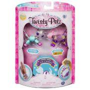 Twisty Petz – Surpresa Rara C/3 - Glitzy Panda E Fluffles  Coelho - Série 1 – Sunny