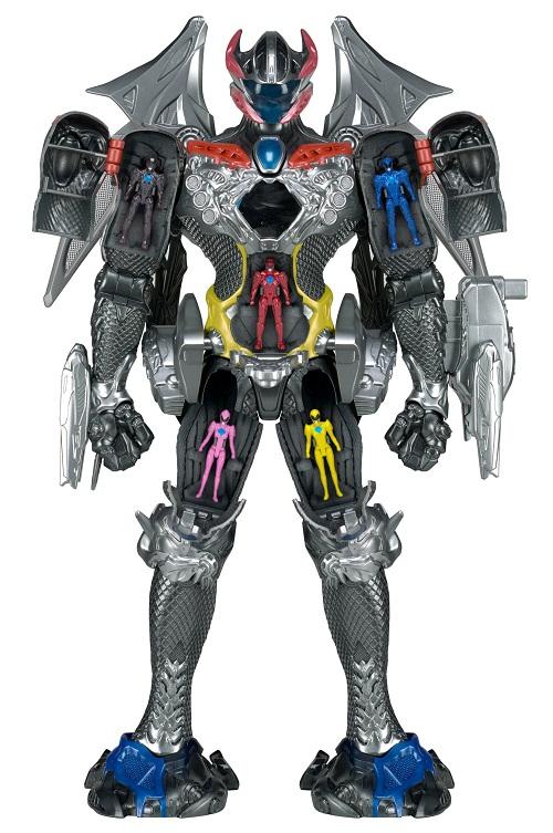 Power Rangers O Filme – Megazord Luxo Som e Luz 44 cm + 5 Rangers – Sunny  - Doce Diversão