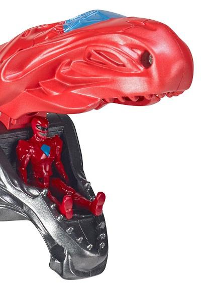 Power Rangers O Filme – T- Rex Luxo 50 cm + Ranger Red – Sunny  - Doce Diversão