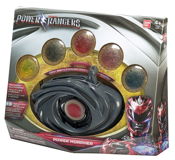 Power Rangers O Filme – Morfador  Som e Luz C/ 5 Moedas  – Sunny  - Doce Diversão