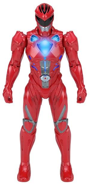 Power Rangers O Filme – Boneco  Ranger Red 18 cm Luz  – Sunny  - Doce Diversão