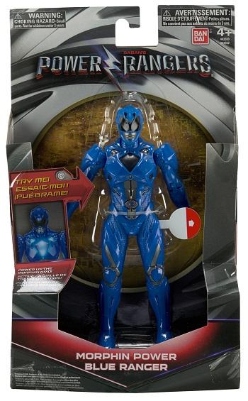 Power Rangers O Filme – Boneco  Ranger Blue 18 cm Luz  – Sunny  - Doce Diversão