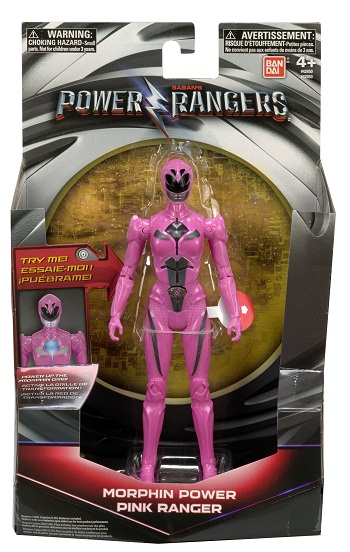 Power Rangers O Filme – Boneco  Ranger Pink 18 cm Luz  – Sunny  - Doce Diversão