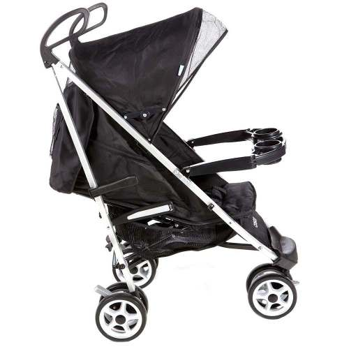 Carrinho Bebê Umbrella Deluxe Alumínio 3 Rodas Preto - Cosco  - Doce Diversão