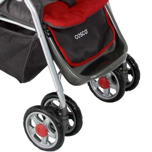 Carrinho Bebê System Reverse Deluxe + Bebê Conforto Vermelho Cosco  - Doce Diversão