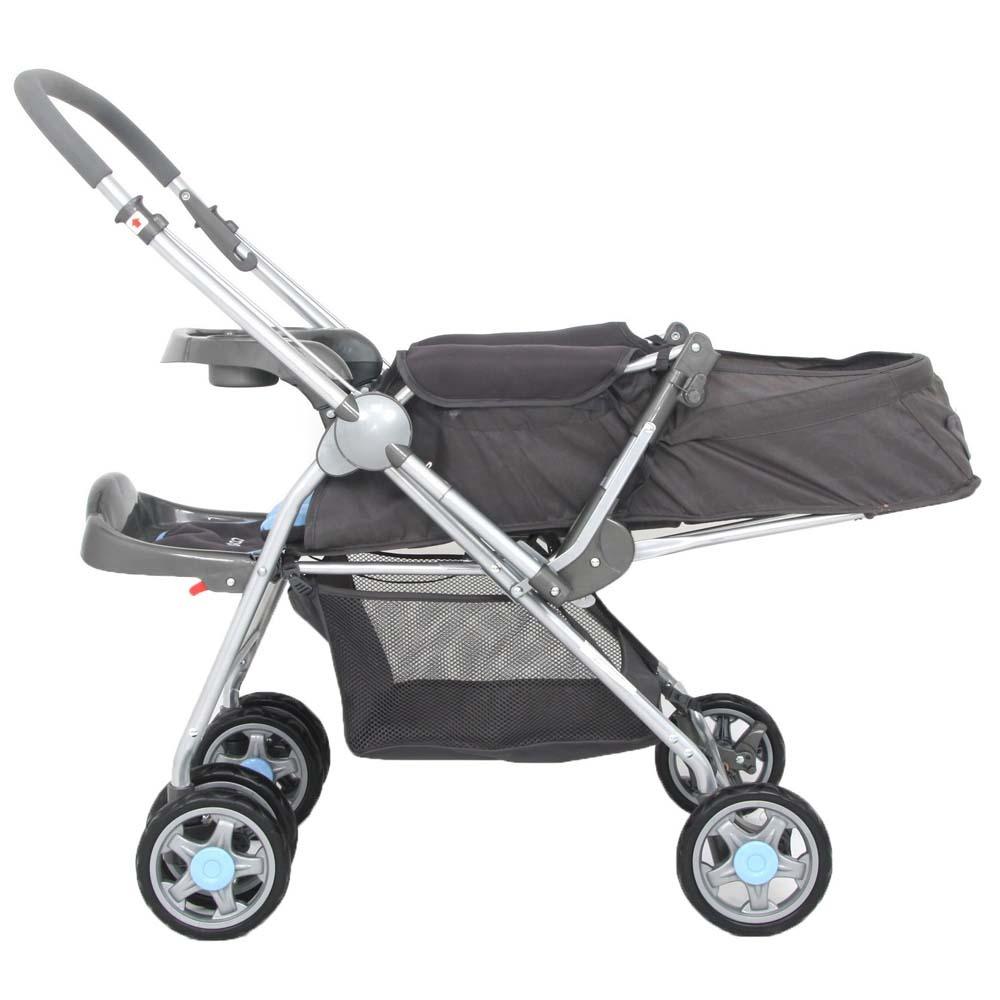 Carrinho Bebê System Reverse Deluxe + Bebê Conforto Azul - Cosco  - Doce Diversão