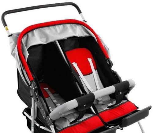 Carrinho de Bebê Gêmeos Berço Passeio 5 posições- Hércules  - Doce Diversão