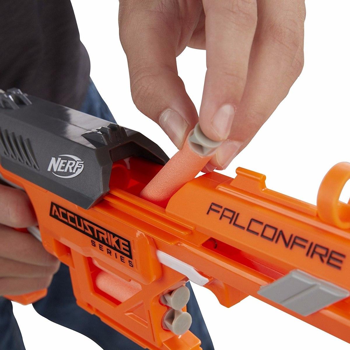 Nerf  Accustrike Falconfire – Lança dardos precisão - Hasbro  - Doce Diversão