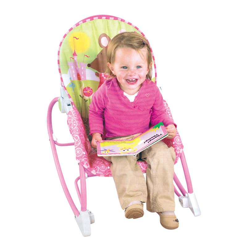 Cadeira Musical Vibratória Descanso C/ Móbile e Balanço Princesas – Baby Style  - Doce Diversão