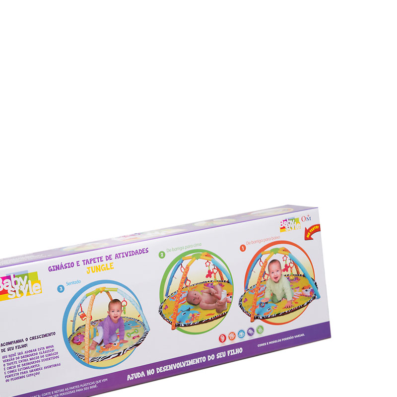Tapete Ginásio Centro de Atividades Bebê Jungle – Baby Style  - Doce Diversão