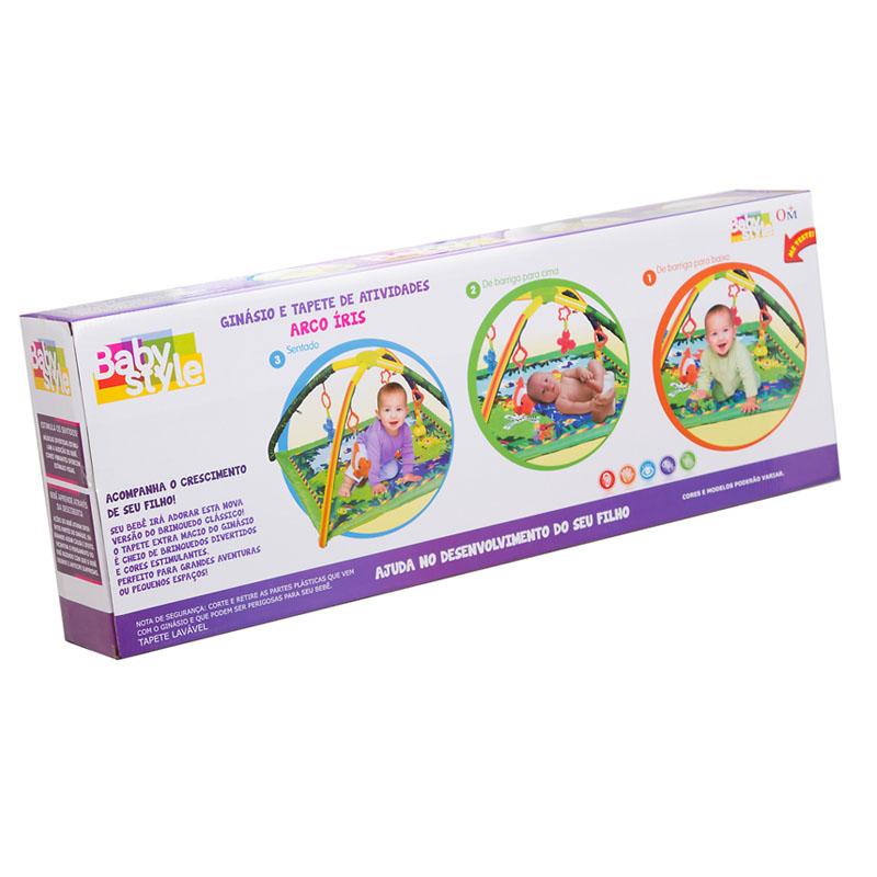 Tapete Ginásio Centro de Atividades Bebê Arco Íris – Baby Style  - Doce Diversão