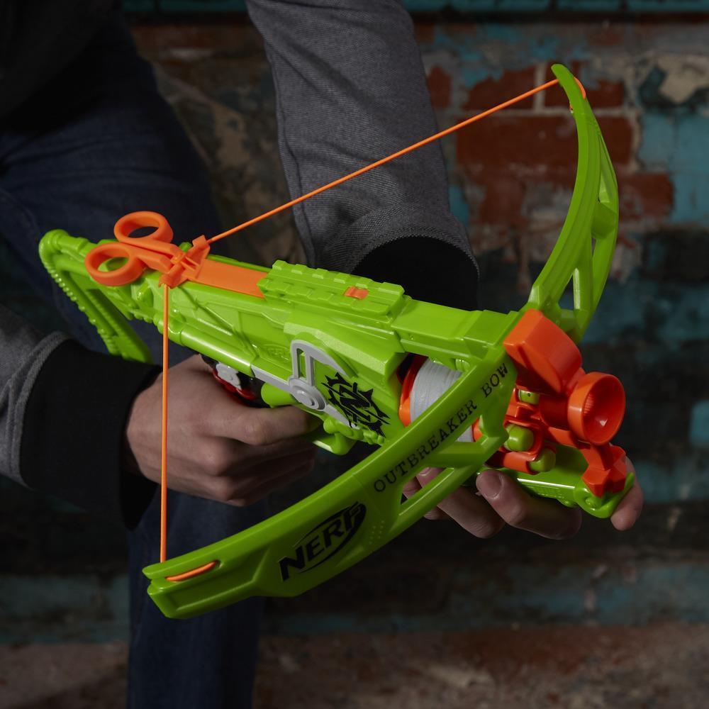 Lançador Nerf Zombie Arco Outbreaker Bow – Tambor gira - Hasbro  - Doce Diversão