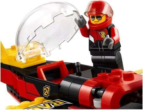 Lego 60144 - City - Avião de Corrida - 89 peças  - Doce Diversão
