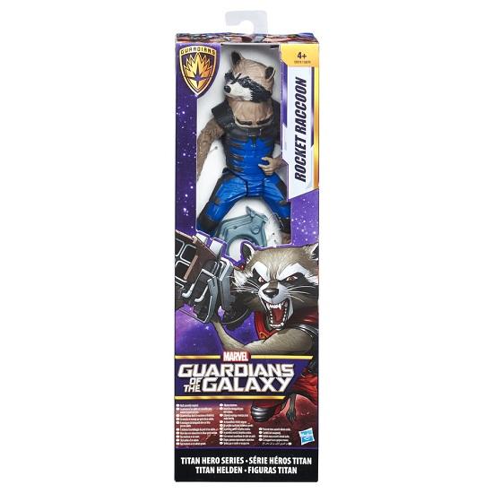 Boneco Guardiões da Galáxia Titan Hero  Rocket  17 cm - Hasbro  - Doce Diversão