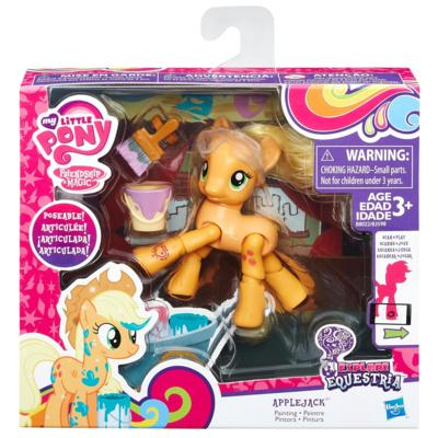 My Little Pony Explore Equestria  Articulada  Applejack  Hasbro  - Doce Diversão