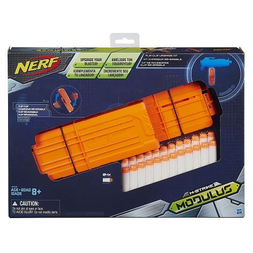 Nerf Modulus Acessorio  Pente / Flip Clip kit + 24 dardos  - Hasbro  - Doce Diversão
