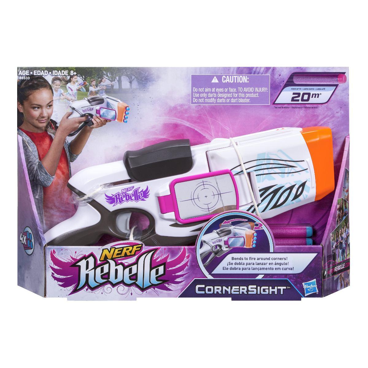 Lançador Nerf Rebelle Insight – lança em curva  - Hasbro  - Doce Diversão