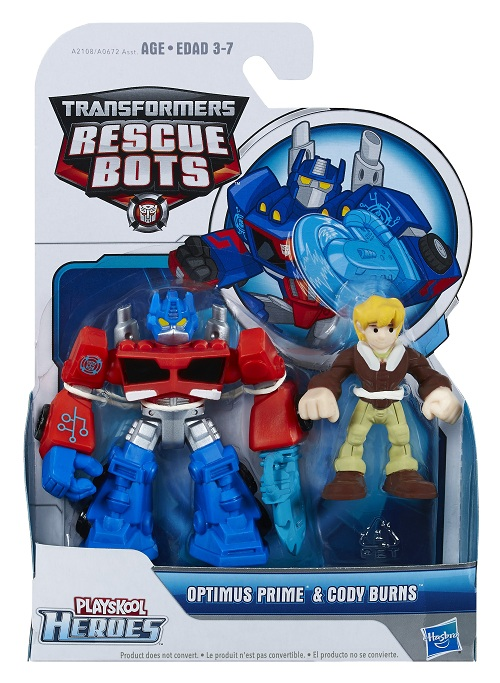 Playskool Transformers  Rescue Bots Optimus Prime & Cody - Hasbro  - Doce Diversão