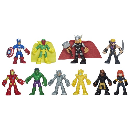 Playskool  Heroes Super Set  Vingadores Conjunto 10 Bonecos - Hasbro  - Doce Diversão